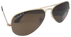 Ray-Ban Polarized RAY-BAN Sunglasses LARGE METAL RB 3025 001/57 55-14 140 Gold