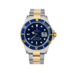 Rolex Rolex Submariner 166113 40MM Blue Dial With Two Tone Bracelet