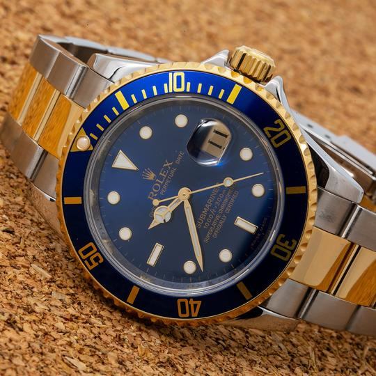 Rolex Rolex Submariner 166113 40MM Blue Dial With Two Tone Bracelet Image 1