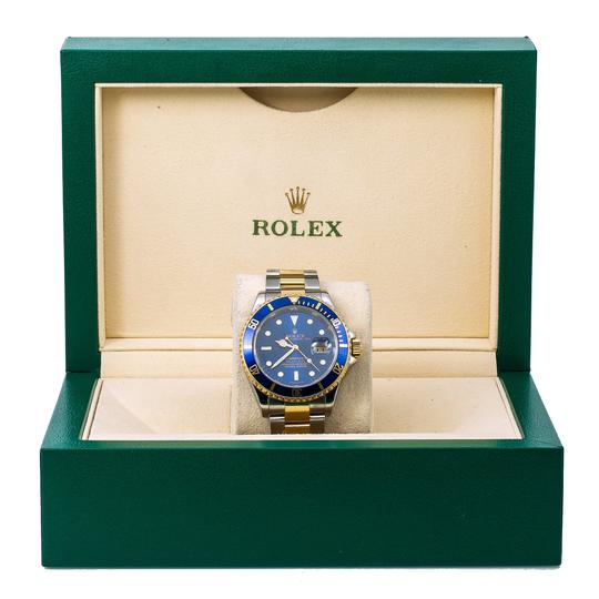 Rolex Rolex Submariner 166113 40MM Blue Dial With Two Tone Bracelet Image 5