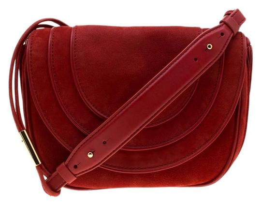 Diane von Furstenberg Nubuck Leather Satin Shoulder Bag Image 0