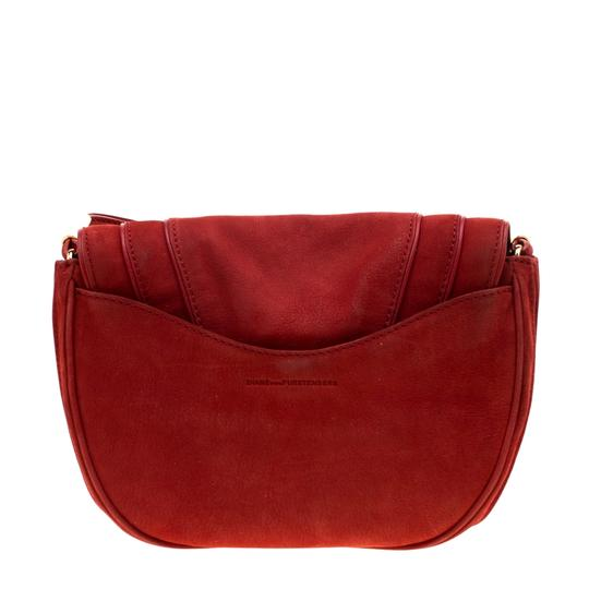 Diane von Furstenberg Nubuck Leather Satin Shoulder Bag Image 1
