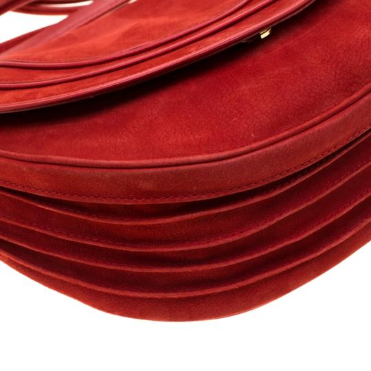 Diane von Furstenberg Nubuck Leather Satin Shoulder Bag Image 4