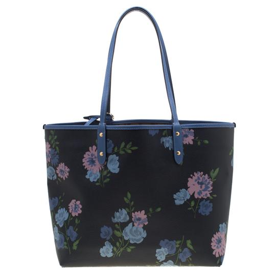 Coach Canvas Tote in Blue Image 1