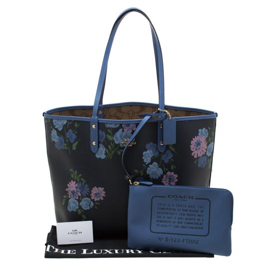 Coach Canvas Tote in Blue Image 11