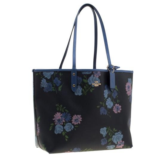Coach Canvas Tote in Blue Image 3