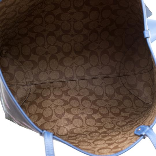 Coach Canvas Tote in Blue Image 6