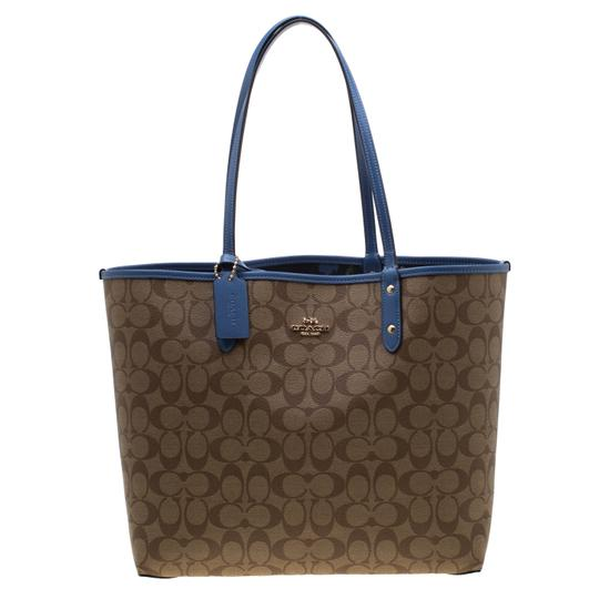 Coach Canvas Tote in Blue Image 7