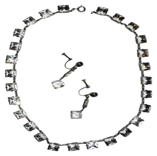 Preload https://img-static.tradesy.com/item/25708470/edward-an-silver-sterling-paste-riviere-deco-earring-set-necklace-0-1-540-540.jpg
