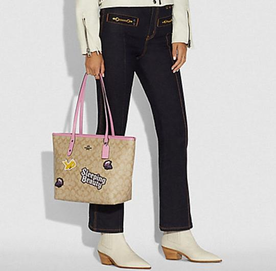 Coach Satchel 36876 Shoulder City Tote in pink Image 1