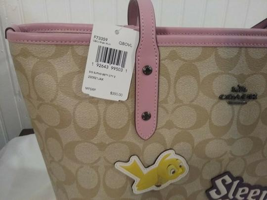 Coach Satchel 36876 Shoulder City Tote in pink Image 4