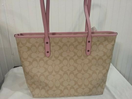 Coach Satchel 36876 Shoulder City Tote in pink Image 7