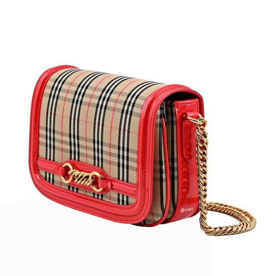 Preload https://img-static.tradesy.com/item/25708531/burberry-vintage-check-link-flap-bright-red-cotton-leather-shoulder-bag-0-1-540-540.jpg