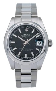Rolex Rolex Datejust 178240 30MM Black Dial With Stainless Steel Bracelet