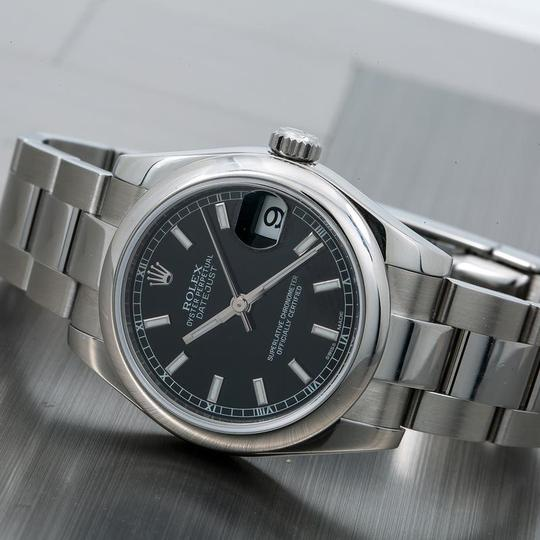 Rolex Rolex Datejust 178240 30MM Black Dial With Stainless Steel Bracelet Image 1