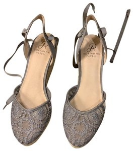 Adrianna Papell silver Wedges