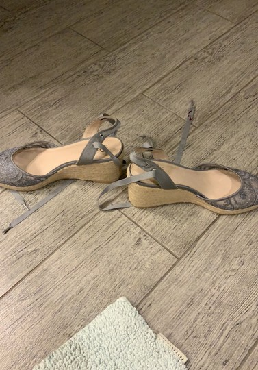 Adrianna Papell silver Wedges Image 1