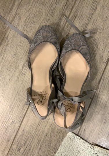 Adrianna Papell silver Wedges Image 2