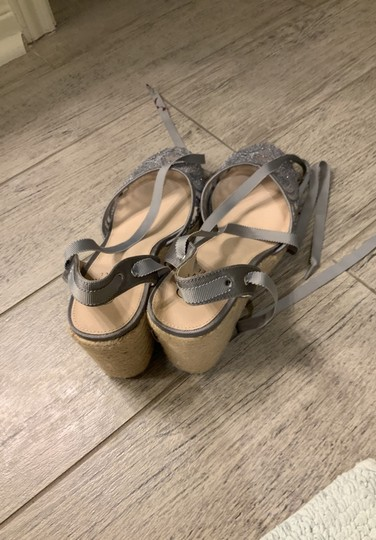 Adrianna Papell silver Wedges Image 4
