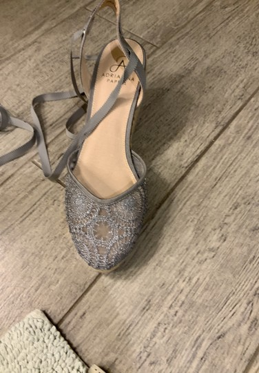 Adrianna Papell silver Wedges Image 5