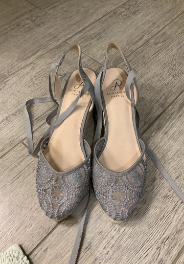 Adrianna Papell silver Wedges Image 6