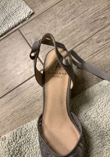 Adrianna Papell silver Wedges Image 7