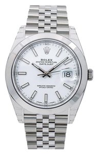 Rolex Rolex Datejust 126300 41MM White Dial With Stainless Steel Bracelet