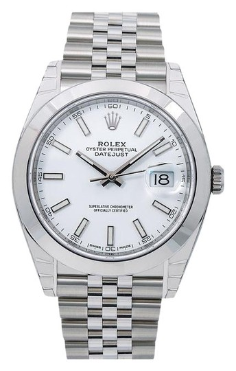 Preload https://img-static.tradesy.com/item/25708590/rolex-white-datejust-126300-41mm-dial-with-stainless-steel-bracelet-watch-0-1-540-540.jpg