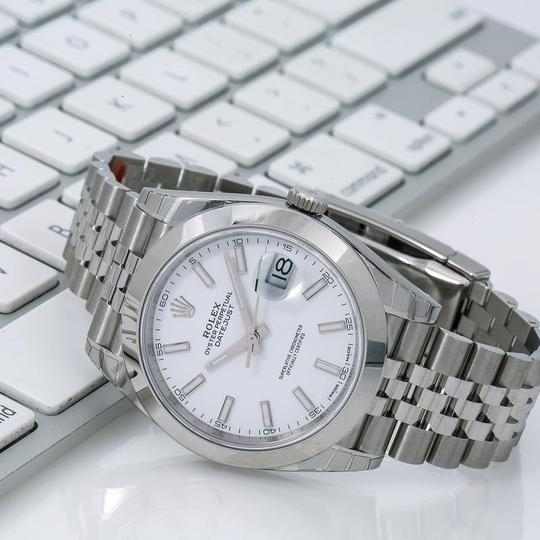 Rolex Rolex Datejust 126300 41MM White Dial With Stainless Steel Bracelet Image 1