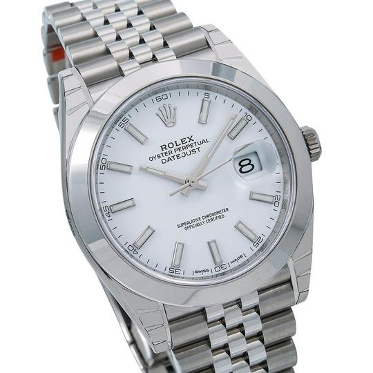 Rolex Rolex Datejust 126300 41MM White Dial With Stainless Steel Bracelet Image 2
