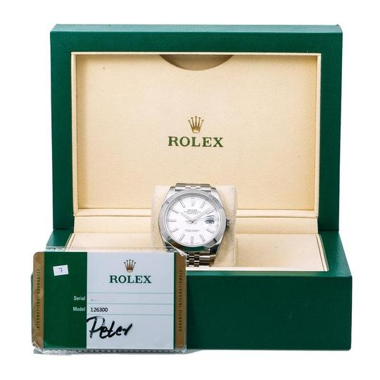 Rolex Rolex Datejust 126300 41MM White Dial With Stainless Steel Bracelet Image 5
