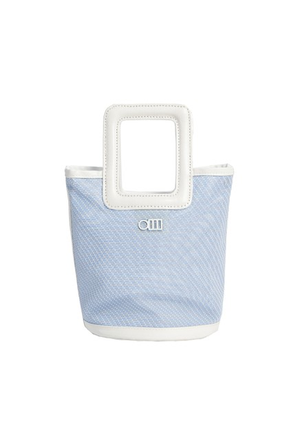 Item - The Pookie Mini Tote - Sky Mesh Blue and White Canvas Beach Bag