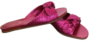 Vince Camuto Shiny Hot Pink Sandals