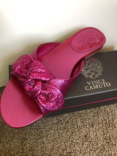 Vince Camuto Shiny Hot Pink Sandals Image 4