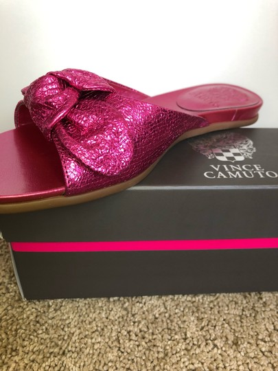 Vince Camuto Shiny Hot Pink Sandals Image 5
