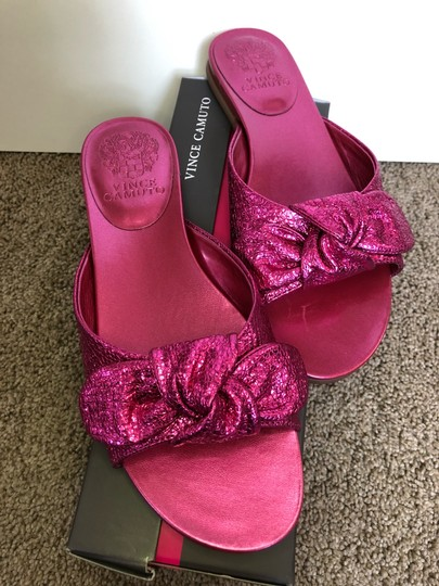 Vince Camuto Shiny Hot Pink Sandals Image 6