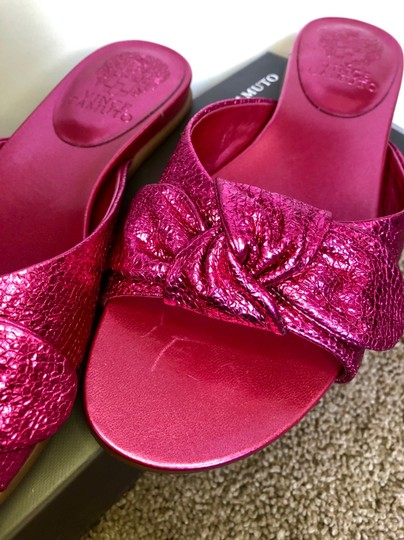 Vince Camuto Shiny Hot Pink Sandals Image 7