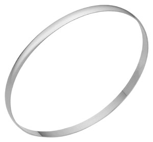 Apples of Gold 5MM 14K WHITE GOLD BANGLE BRACELET