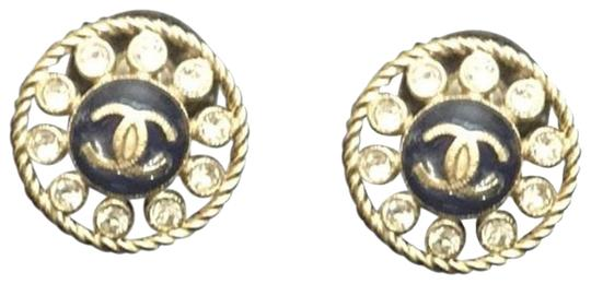 Chanel CC Resin & Crystal Stud Earrings Image 0