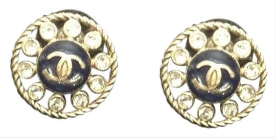 Chanel CC Resin & Crystal Stud Earrings Image 2