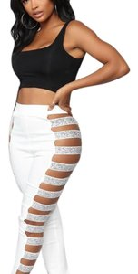 Fashion Nova Skinny Pants white