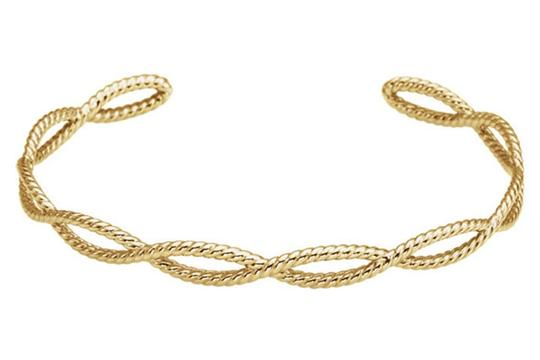 Apples of Gold 14K GOLD ROPE CUFF BRACELET FOR WOMEN Image 2