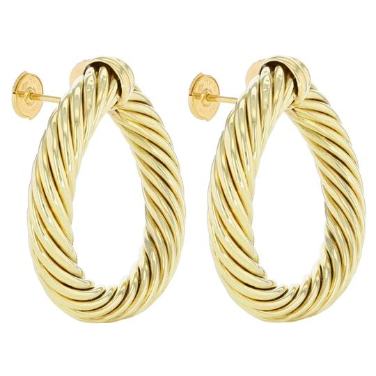Preload https://img-static.tradesy.com/item/25708946/david-yurman-18k-yellow-gold-classic-cable-women-s-hoop-earrings-0-0-540-540.jpg