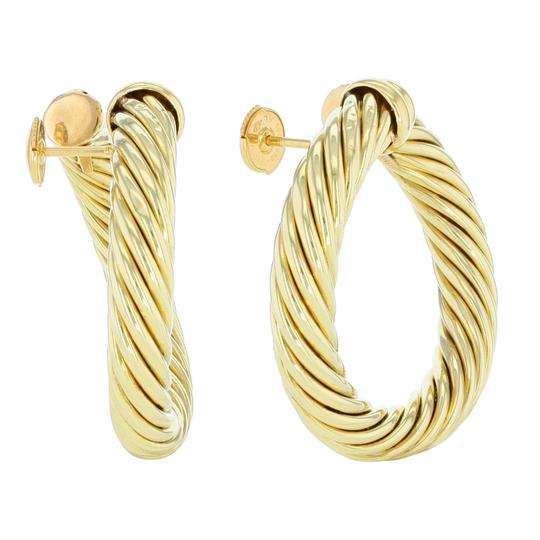 David Yurman Classic Cable Women's Hoop Earrings Image 1