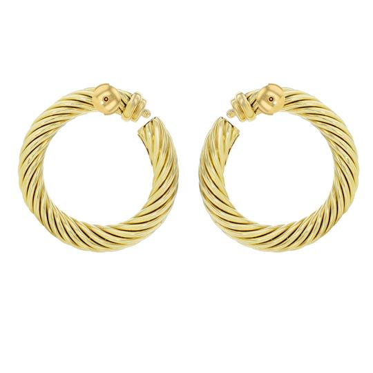 David Yurman Classic Cable Women's Hoop Earrings Image 2