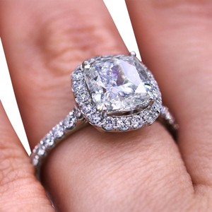 Diana M Elegant 3.02 TCW Halo Diamond Engagement Ring