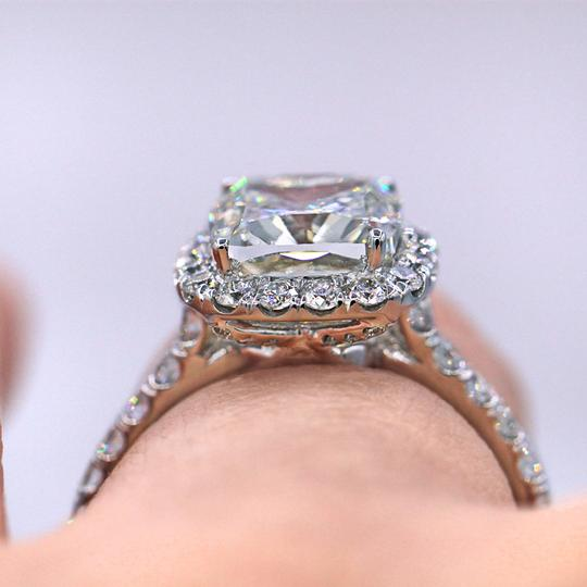 Diana M Elegant 3.02 TCW Halo Diamond Engagement Ring Image 2