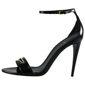 Burberry Leather Ankle Strap Black Sandals