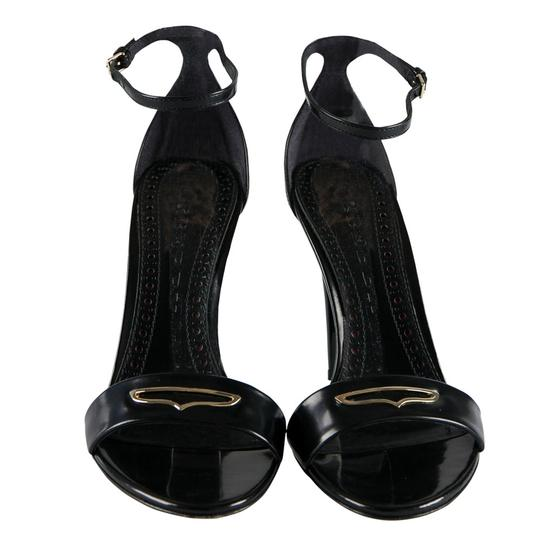 Burberry Leather Ankle Strap Black Sandals Image 1