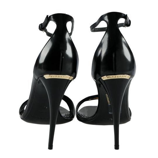 Burberry Leather Ankle Strap Black Sandals Image 2